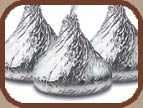 A chocolate kiss is a metaphor for keeping your marketing message simple.